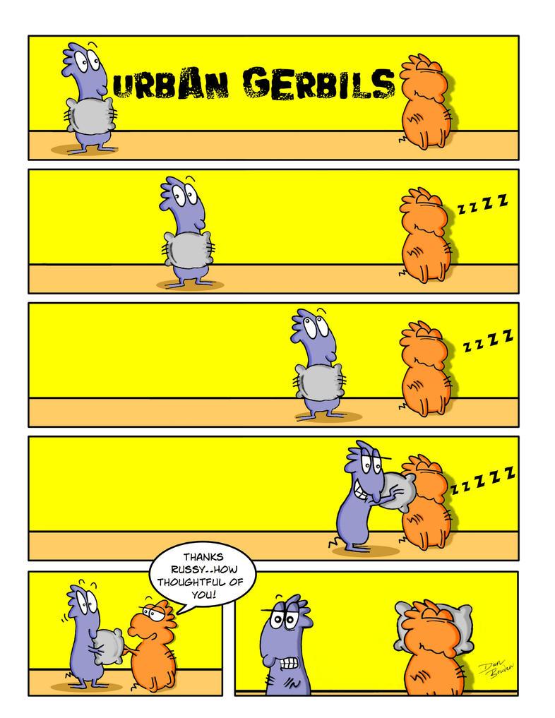 Urban Gerbils. Pillow stalk by DannoGerbil
