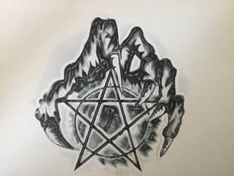 Evil tattoo design