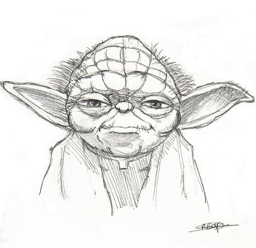 Yoda Face Drawing Star Wars Yoda DrawingsYoda Face Drawing