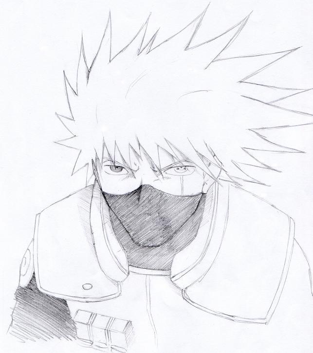 Grafiti Anime Hitam Putih Kakashi Hatake 02 By Paper P On Deviantart