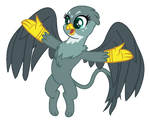 Mlp Base: Overly-Excited Griffon by Quartziie