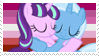 Trixie x Starlight Glimmer Stamp by CreepyQuartz