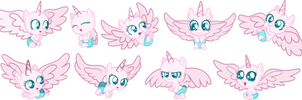 Mlp Base: a flurry of flurries by Quartziie