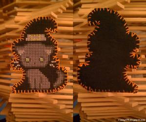 Cross-Stitch: Witchy Halloween Kitty