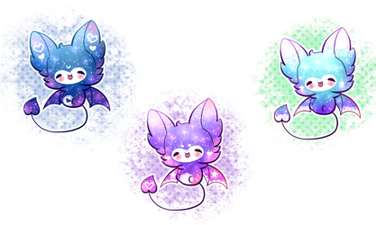 [AUCTION] Galaxy Bat Adoptables /CLOSED by Jennlevi