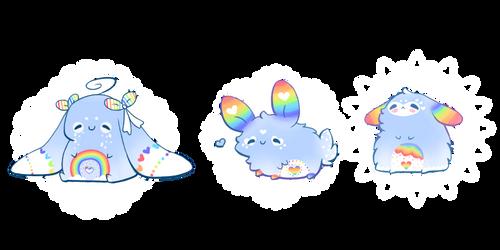 [AUCTION] Rainbow Bunny Adoptables / CLOSED by Jennlevi