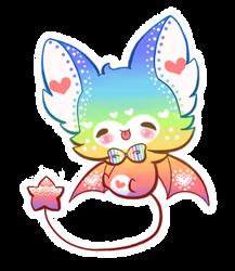 [AUCTION] Adoptable Rainbow Bat |CLOSED by Jennlevi