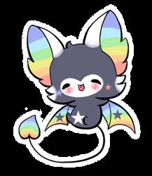 [AUCTION] Adoptable Rainbow Bat |CLOSED| by Jennlevi