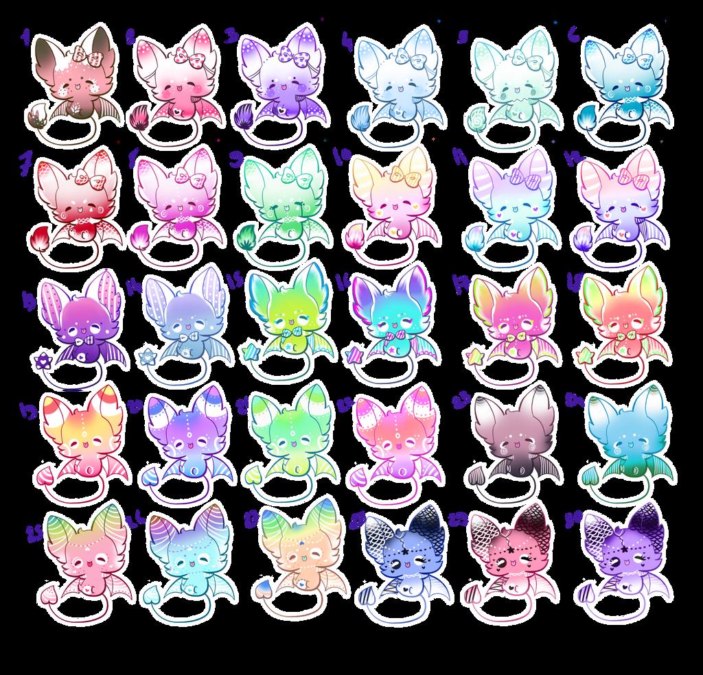 CHEAP/30 Cute Adoptable Bats/OPEN by Jennlevi