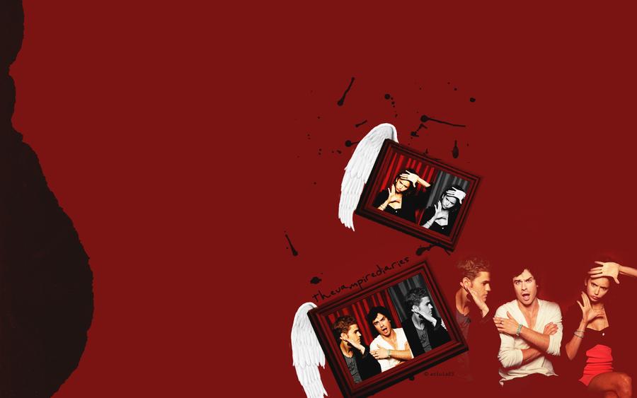 damon wallpaper vampire diaries. The Vampire Diaries wallpaper