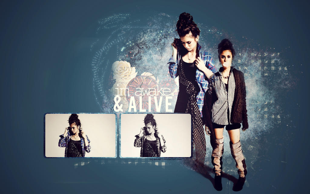 I'm awake and ALIVE. Nina Dobrev wallpaper by asiula23
