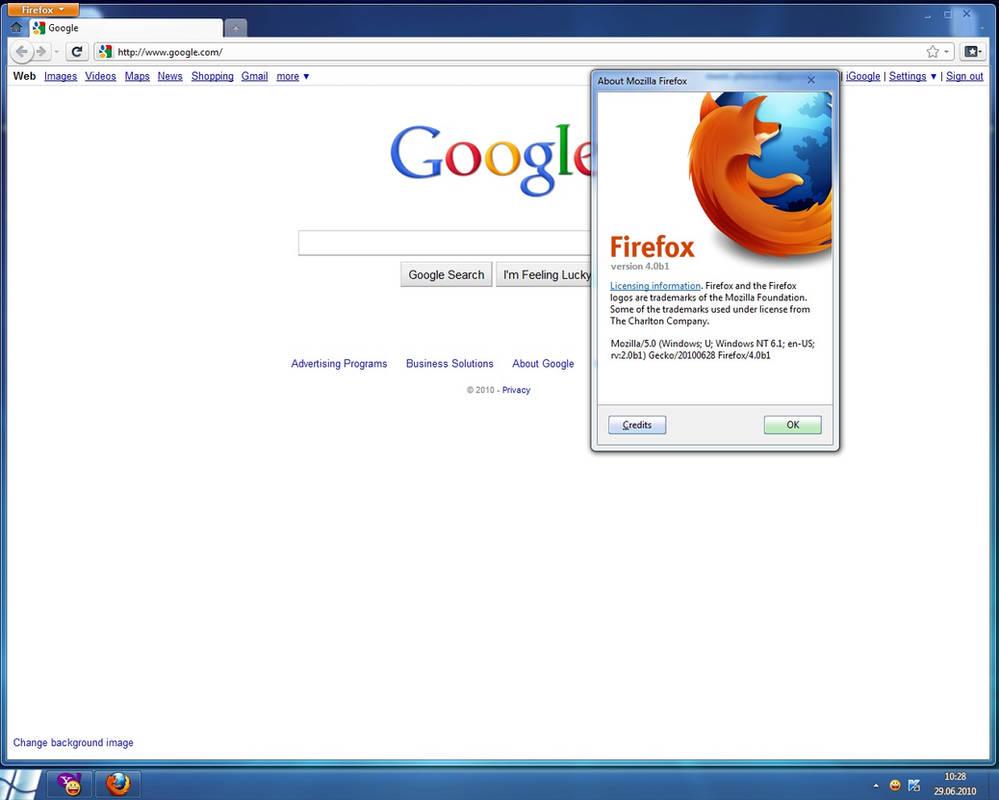 Mozilla Firefox 4 0 Beta 1 by Misaki2009 on DeviantArt