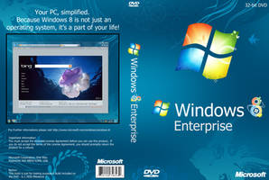 Windows 8 M1 DVD Cover by Misaki2009