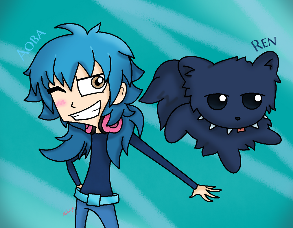 Aoba and Ren in IZ style by Mikage-YoshinoAnerin