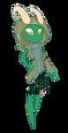 emerald vortian (digital custom commission) by Miikage