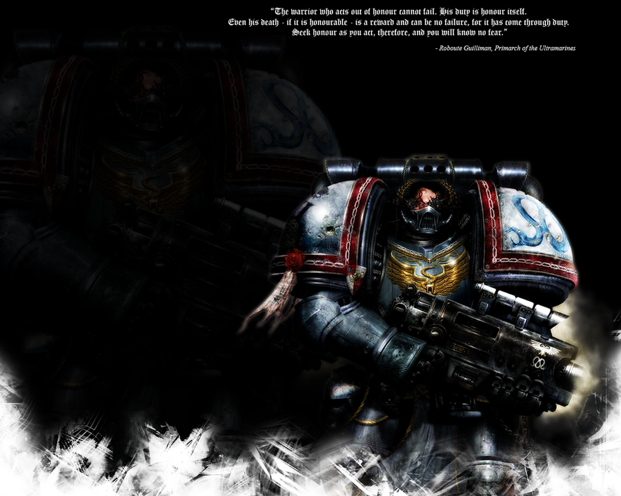 40K Space Marine Wallpaper by DemonicMarshmallow