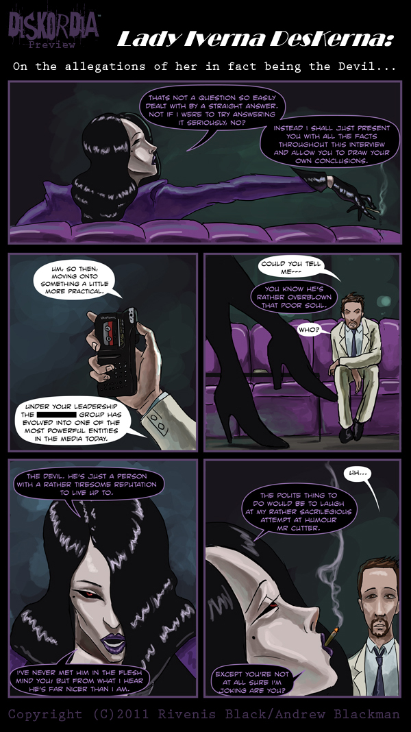 Diskordia 2 Sample page by Rivenis