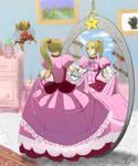 Samus in Princess Peach dress