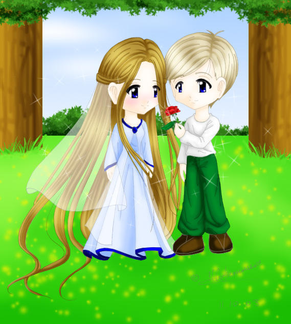 Cute chibi romance anime