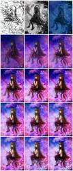 Sakura Dreams Process by kawaiihannah