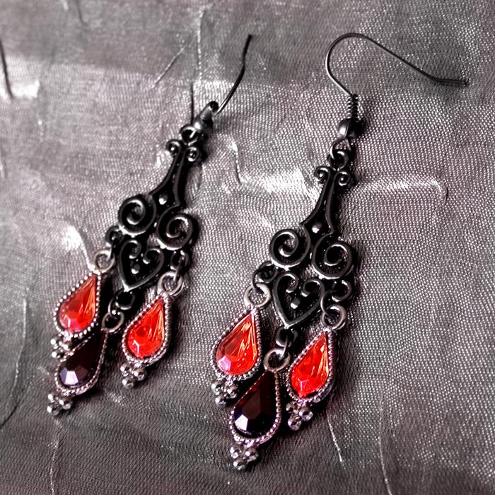 Heartdrop: Vamp Earrings (for sale) by ArtLoDesigns