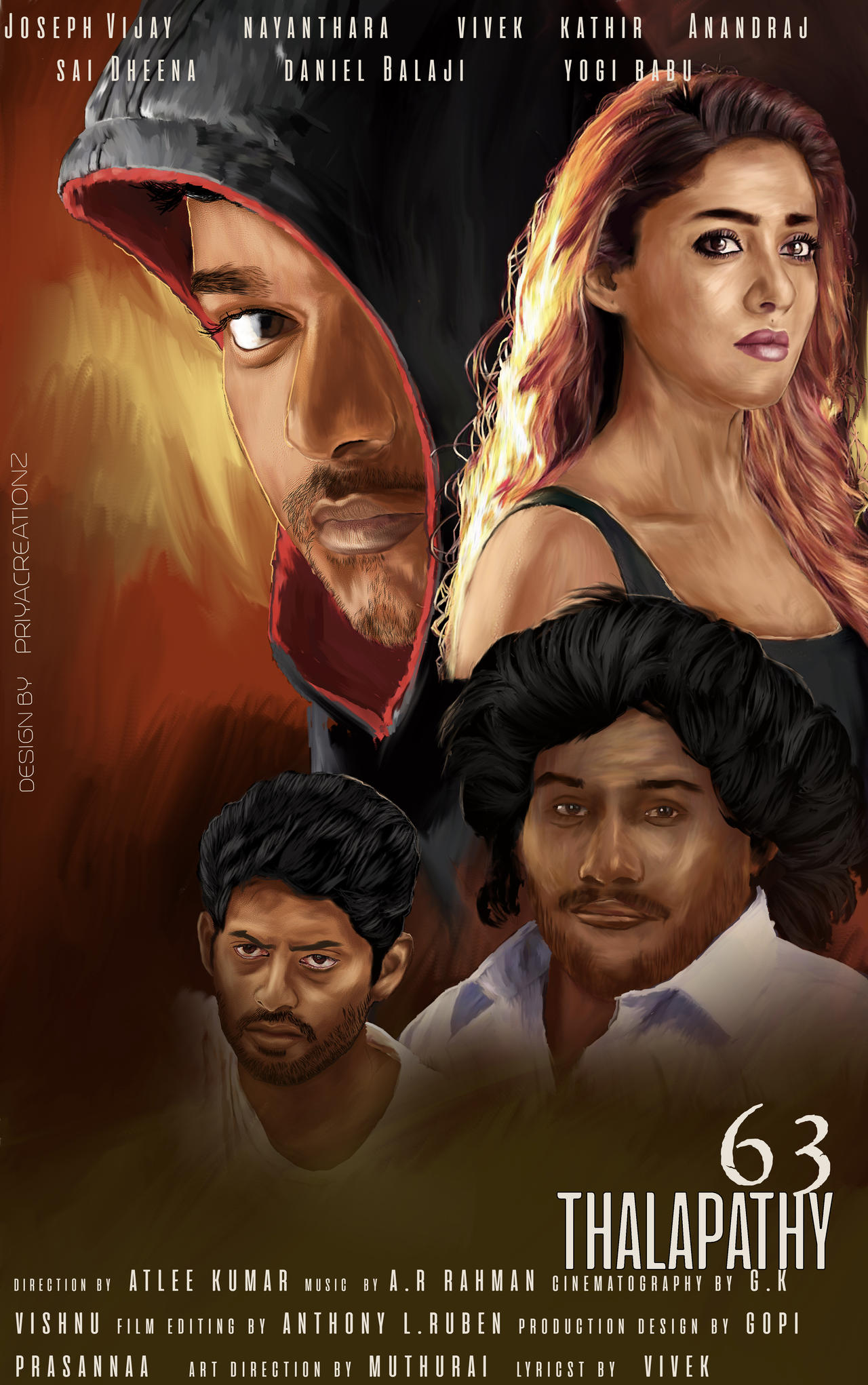 Thalapathy 63- Digital painting poster by PriyaCReationZ94