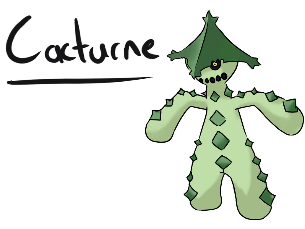 Cacturne by Wolf-Beard on DeviantArt