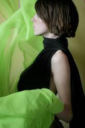 Black + Green flowing I
