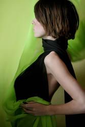 Black + Green flowing II