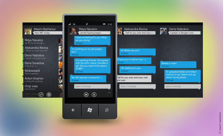 A messenger app by maximbazhanov