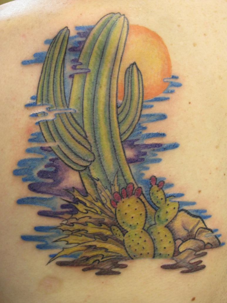 7 eye catching cactus tattoos. Black Bedroom Furniture Sets. Home Design Ideas