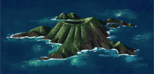 Sea Turtle Island by Sofalein