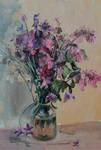 The  bouquet. Cardboard, oil.