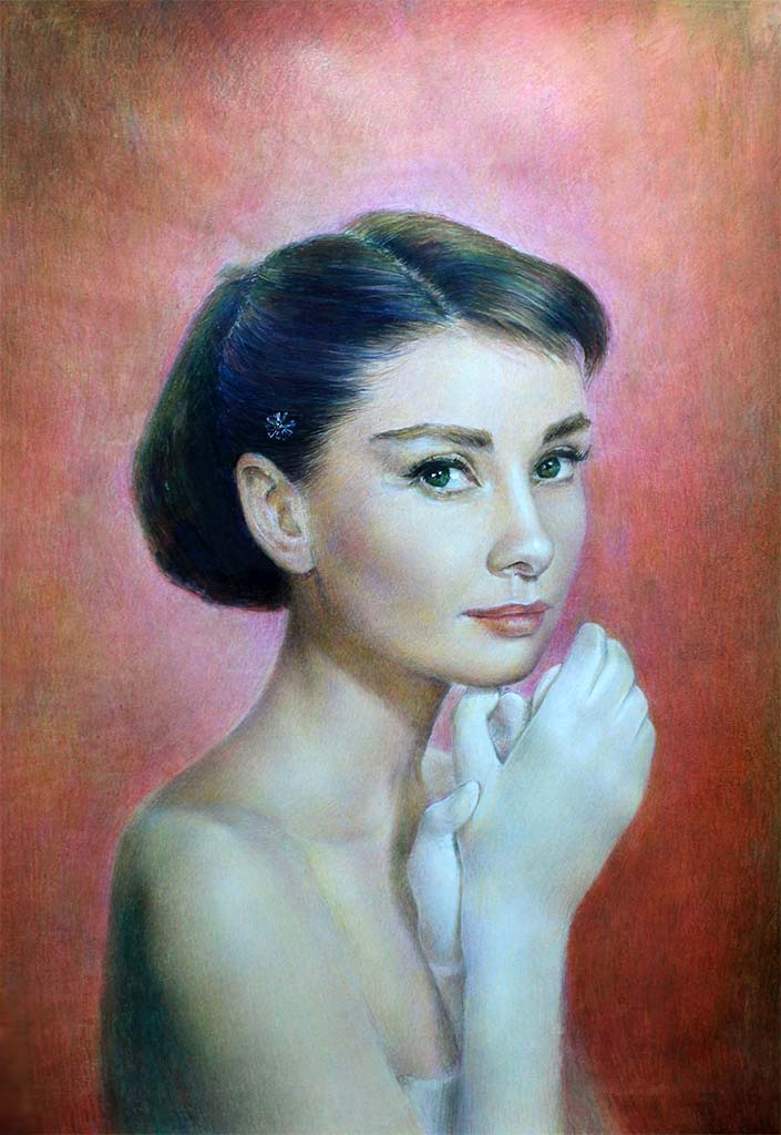 Audrey Hepburn by onpumi