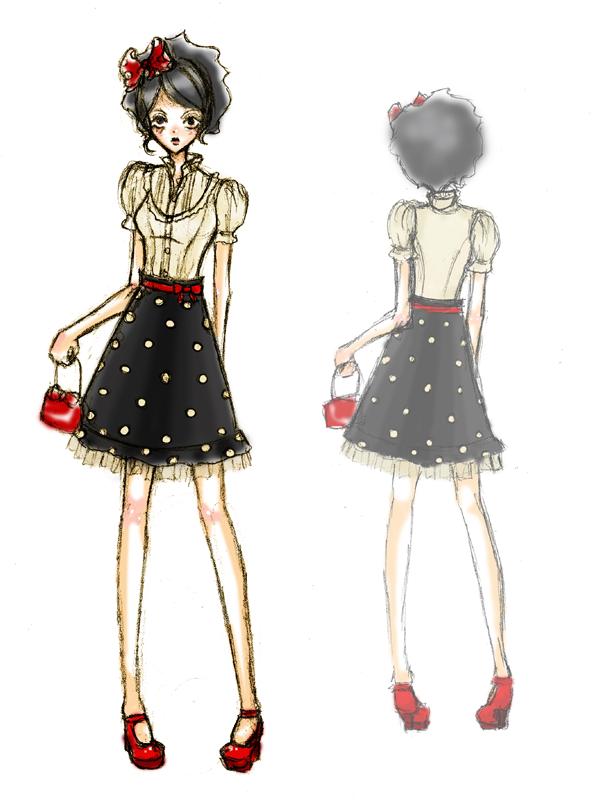 fashion sketch dots by pekochu on deviantart