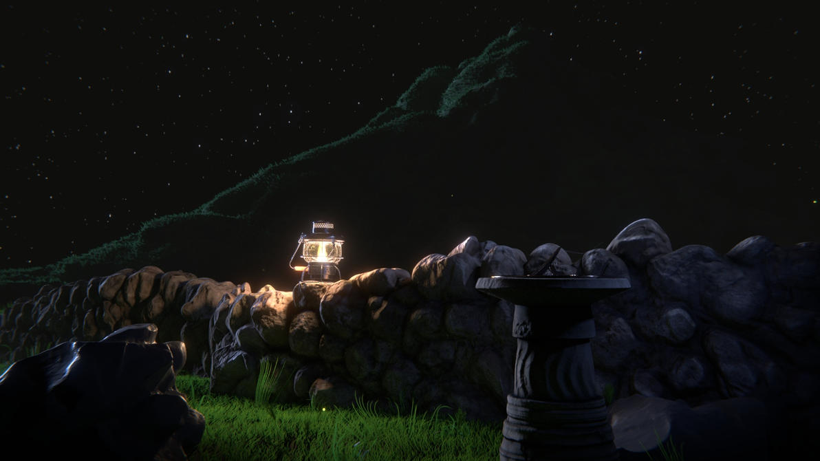 Lantern Night Scene by Sascha-Snowstorm