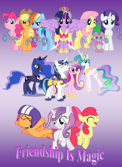 Friendship Is Magic- Poster by Dizzeh89