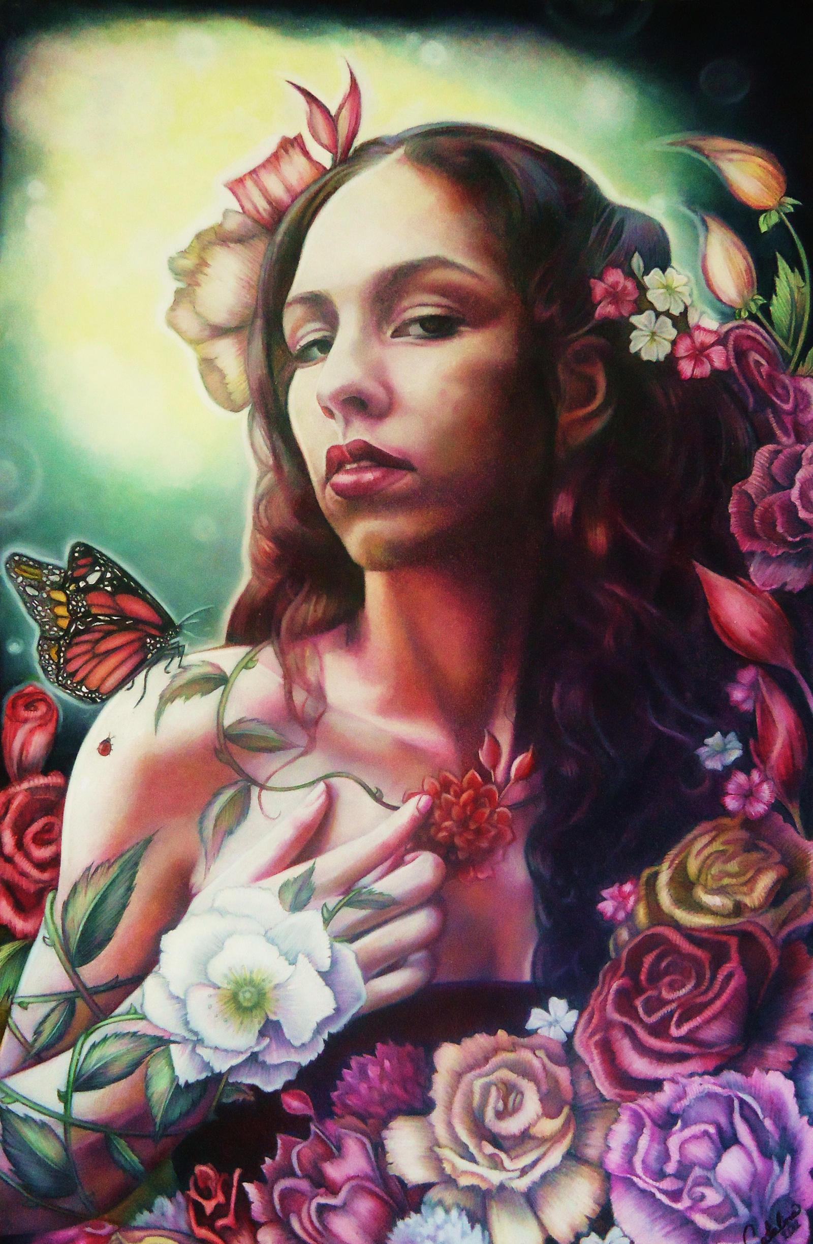 Rose Between Roses by Catalina-Estefan