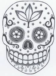 Sugar Skull by jiujitsubuddah