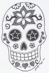 Sugar Skull 4 by jiujitsubuddah
