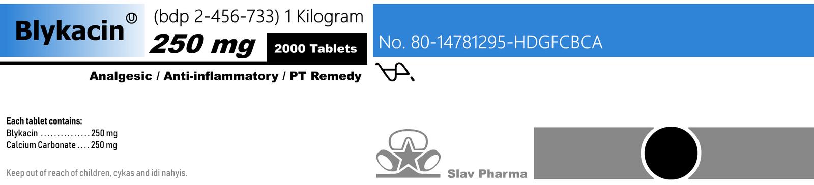 Terrahyptian Drug Labels (Blykacin) by SYRSA