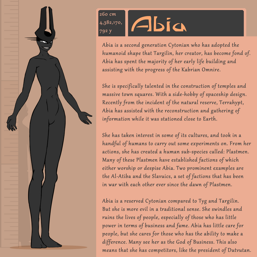 Character Bio (Abia) by SYRSA