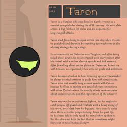 Character Bio (Taron)