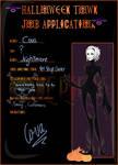 Halloween Town Job Application