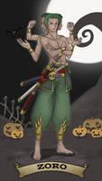 Halloween-Town: Zoro by SnajeyArt