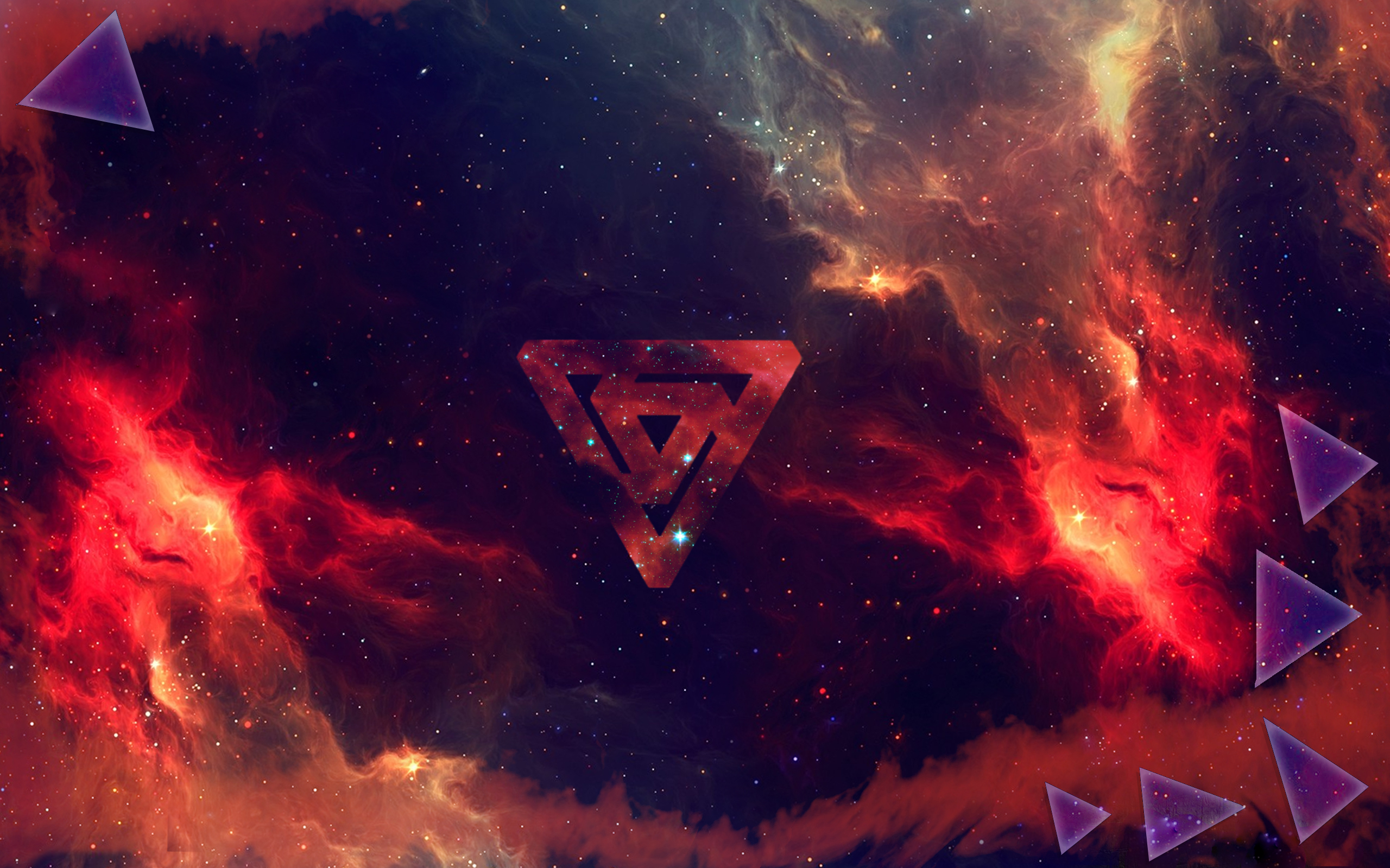 galaxy triangle wallpaper by xXShadowLion on DeviantArt