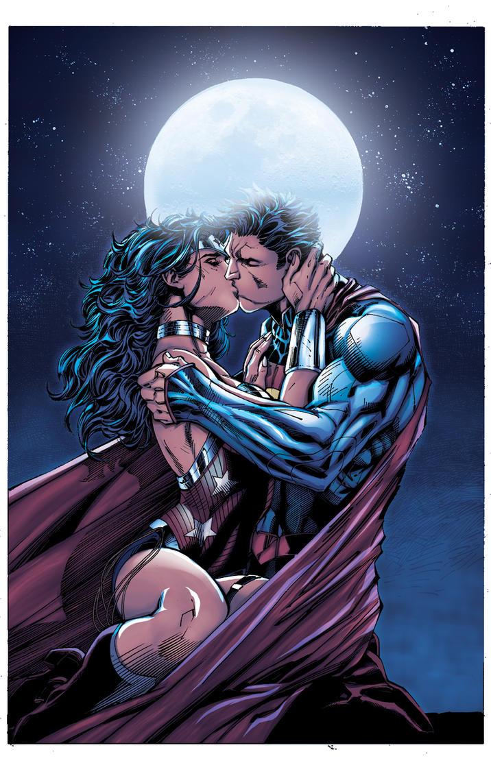 superman_wonder_woman_the_kiss_by_inkist XGX by knytcrawlr