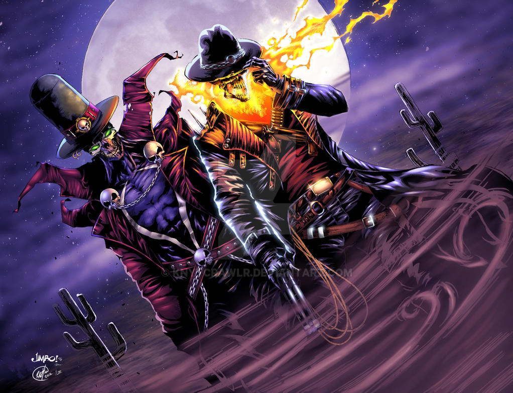 英�yf����(K�ny��K�_gunslinger spawn and western ghost rider xgx by knytcrawlr