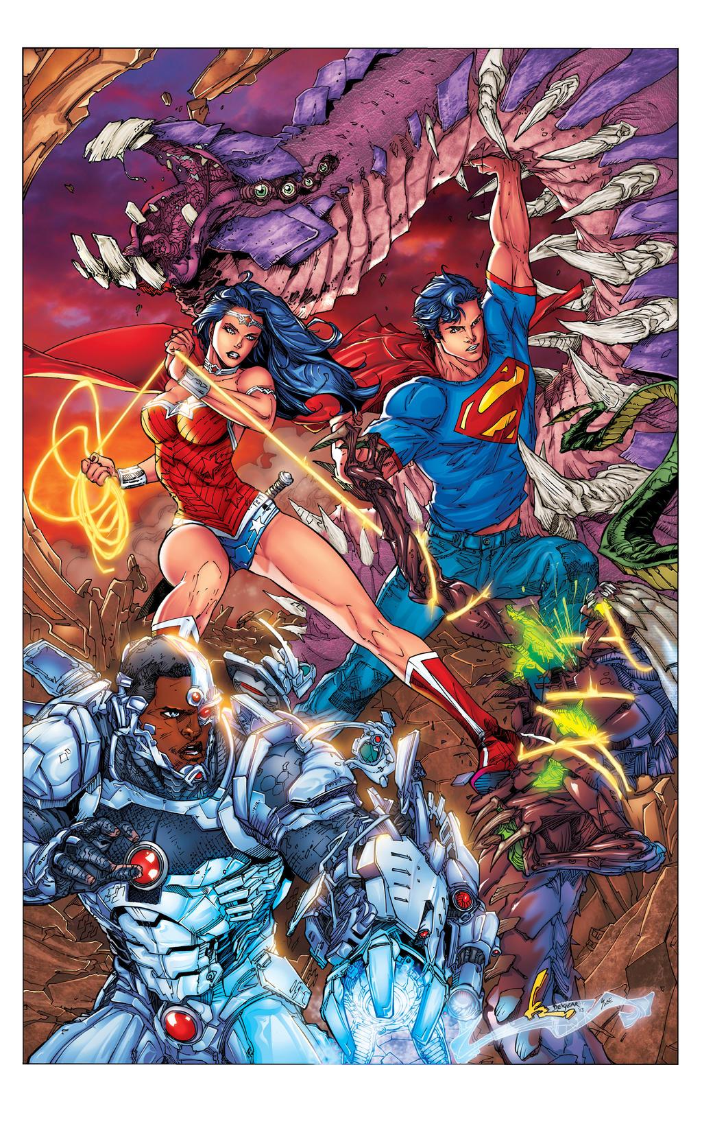 Superman 16 Cover Flats by jotazombie XGX by knytcrawlr