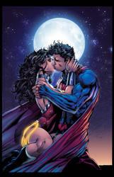Superman Wonder Woman   By Jim Lee Inkist R-XGX
